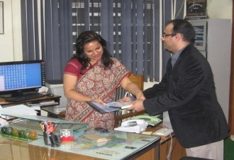 Presenting Dengue Health Information System to Secretary Department of Health, Orissa 2011
