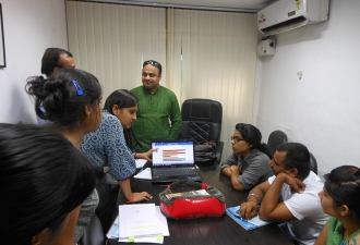 Population Health Informatics training with Public health students from Amity University 2014
