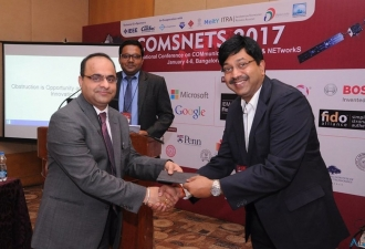 Key note speaker at Conference on Communication Systems & NETworkS (COMSNET) held in Bangalore 2017